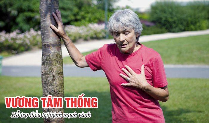 Đau thắt ngực, khó thở, đánh trống ngực là triệu chứng của bệnh mạch vành